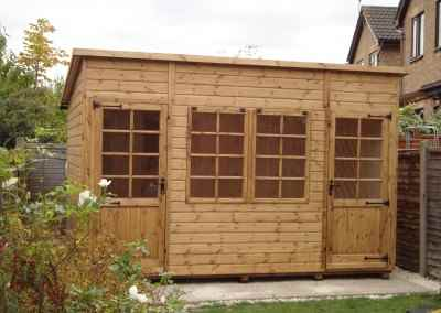 Deluxe Pent Bespoke 12x8, Extra Height and Tilford Windows and Doors