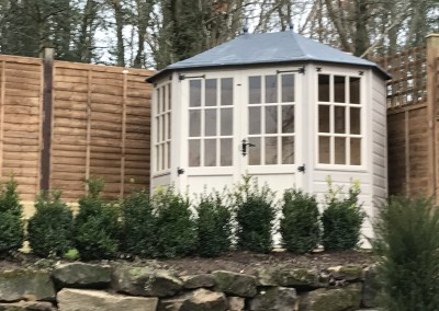 Frensham Double Door Gazebo with painted finished.