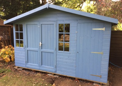 Hampton 12x8 with Shed Compartment, Panelled Doors and Painted Finish