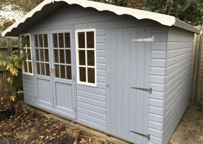 Hampton 12x8 with Shed Compartment and Painted Finish