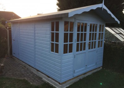 Hampton 8x14 with Seperate Shed Compartment and Painted Finish.