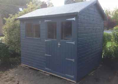 Heavy Duty Workshop 10x8 with Windows in Doors and Painted Finish.