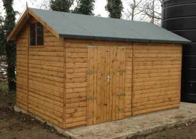 Heavy Duty Workshop 14x10 with Window Fitted High on Gable