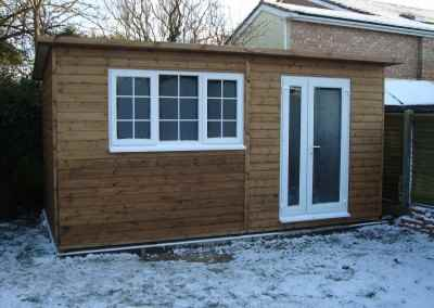 Heavy Duty Workshop 16x10, Pent Roof, UPVC Window and Doors (Suppied by our client)