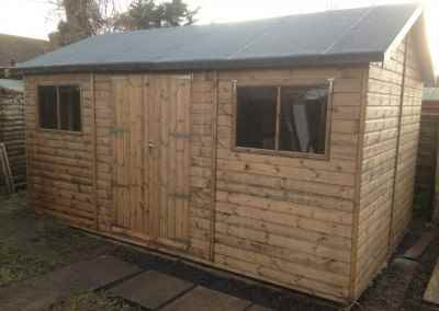 Heavy Duty Workshop 16x10 with Guttering