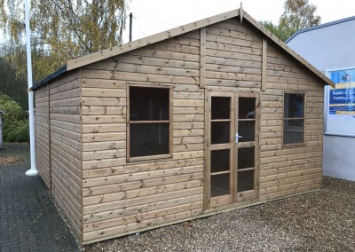 Heavy Duty Workshop 16x16 with Studio Doors and T&Gv Lining & Insulation