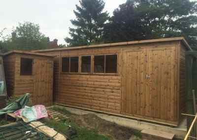 Heavy Duty Workshop 19x11 with Pent Roof.