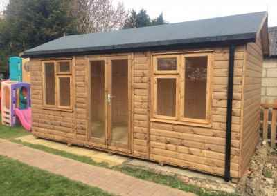 Heavy Duty Workshop 20 x 10 with Ascot Doors, Joinery Windows, T7Gv Lining Insulation and Guttering