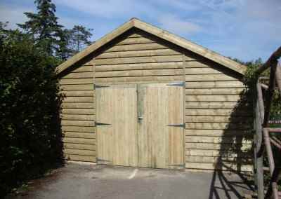 Heavy Duty Workshop 20x19, Double Garage Doors, Featheredge Cladding