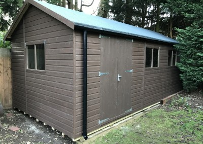 Heavy Duty Workshop 22x12 with Guttering and Painted Finish