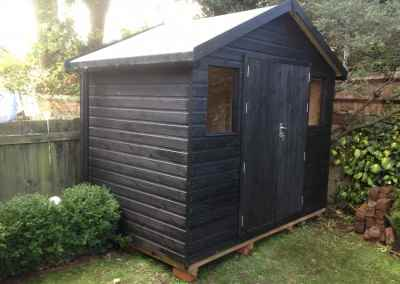 Heavy Duty Workshop 9x6 with Guttering and Painted Finish