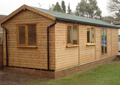 Heavy Duty Workshop Bespoke 30x10, Frech Doors, Double Glazed Joinery Windows, Felt Tiled Roof, T&Gv Lined & Insulated and Guttering
