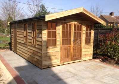 Heavy Duty Workshop with Featheredge Cladding, Hampton Doors and Windows and Seperate Shed Compartment
