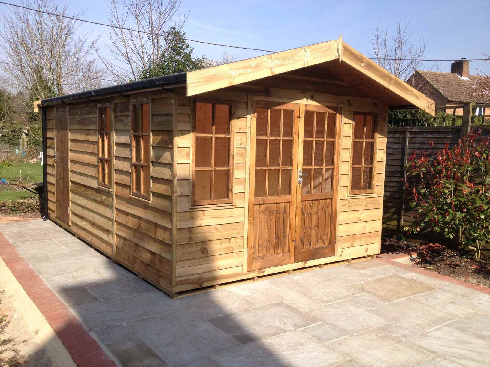 Feather Edge Cladding (heavy duty only) - MB Garden Building