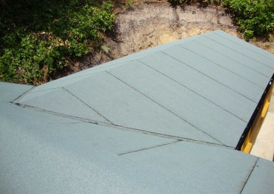 Hipped Roof with Heavy Torch-On Felt