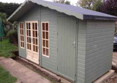 Petersham 14x6, Extra Height, Shed Compartment with Heavy Duty Door, Heavy Torch-On Felt, Shades Finish.