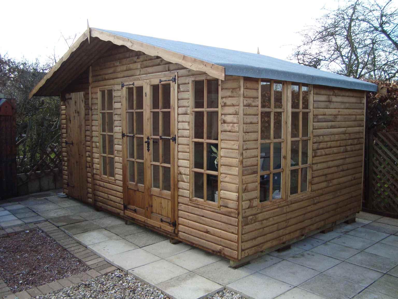 log lap cladding mb garden building. Black Bedroom Furniture Sets. Home Design Ideas