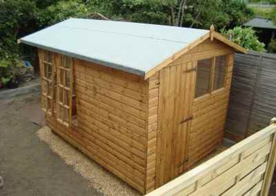 Petersham 8x10,  Rear Shed Compartment.