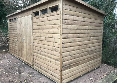 Security Shed 15x7 with Pent Roof Option