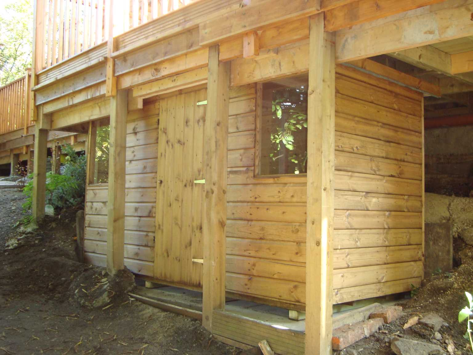 Angled tapered buildings mb garden building for Garden shed 9x4