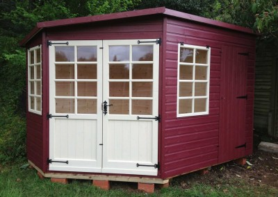 Tilford 10x7 Shed Compartment Shades Finish