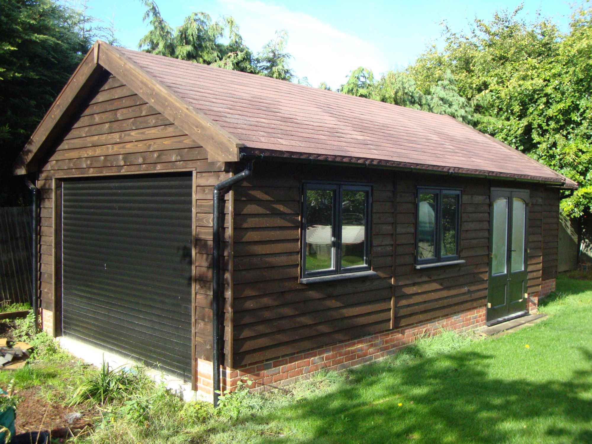 Feather edge cladding heavy duty only mb garden building for Garden shed garage